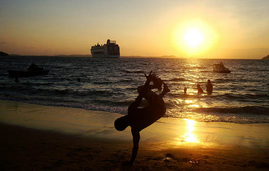 Capoeira at the beach in Buzios
