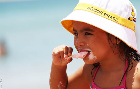 Buzios Ice cream by the beach Brazil