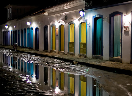 Paraty city at night Brazil